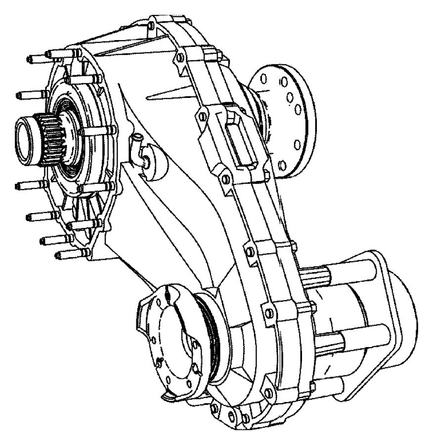 2008 Jeep Commander Case. Nvg140. Transfer, quadra, trac