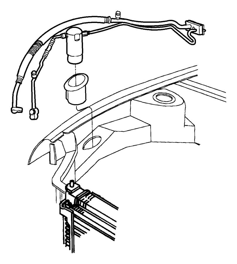 1998 Dodge Neon Condenser. Air conditioning. Magneti