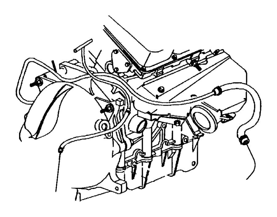 1997 Dodge Intrepid Hose. Heater, heater return. Water