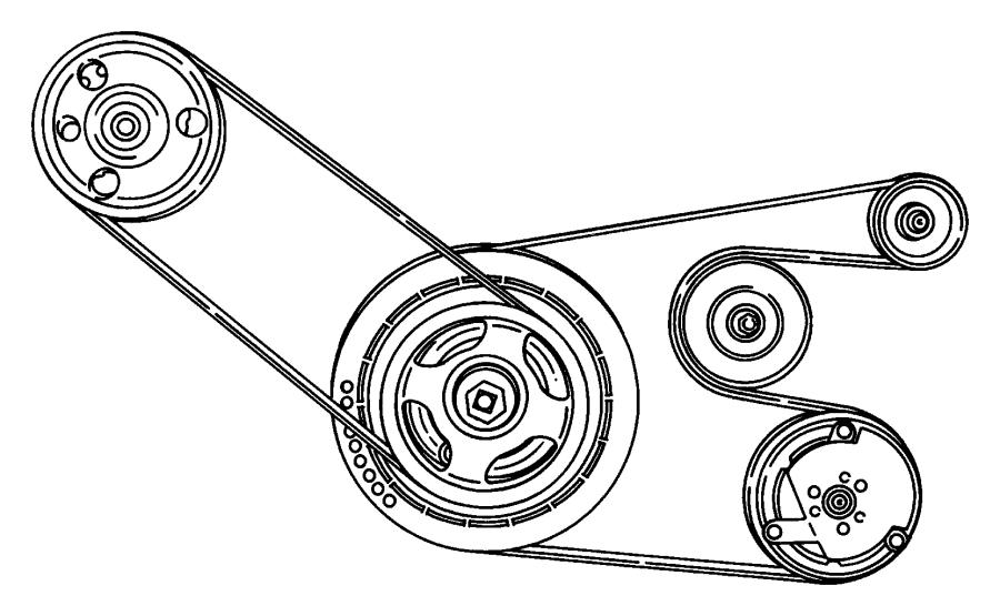 2000 Chrysler Sebring Belt. Accessory drive. Conditioning