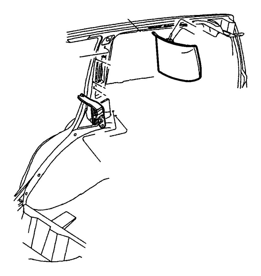 2003 Jeep Grand Cherokee Molding. D pillar. Left. [l5
