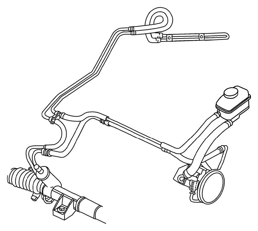 1996 Chrysler Sebring Reservoir. Power steering pump. With