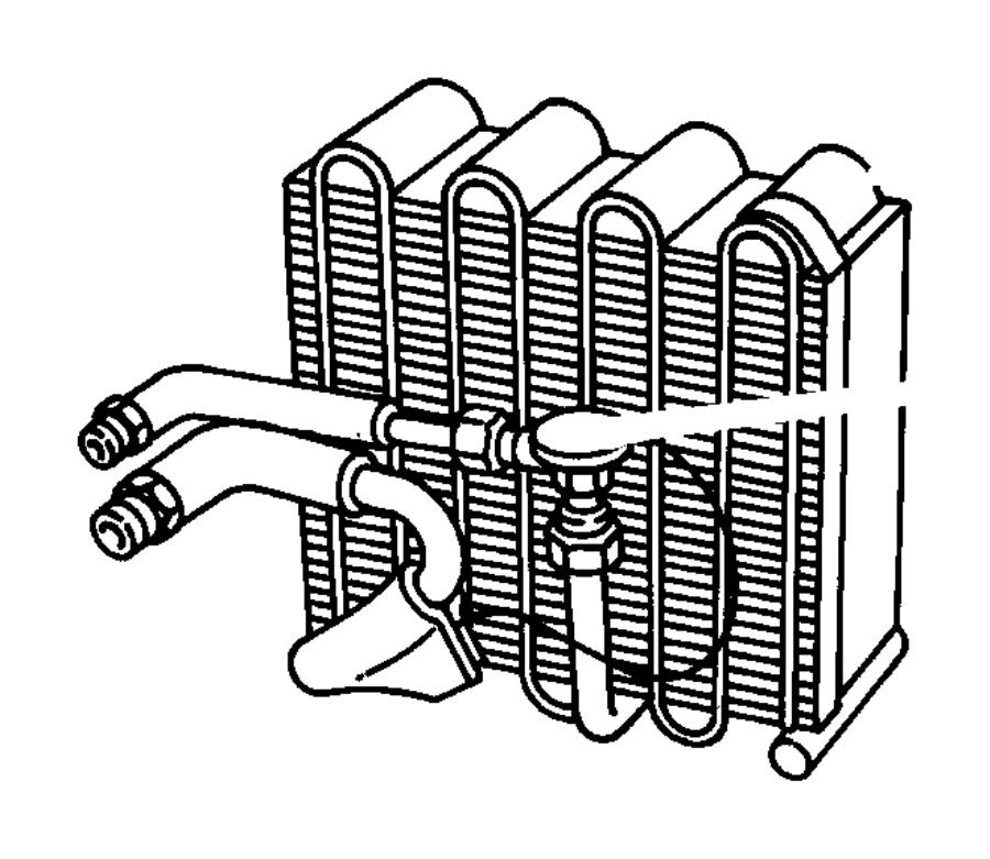 1996 Dodge Viper Evaporator. Air conditioning. Unit, hevac