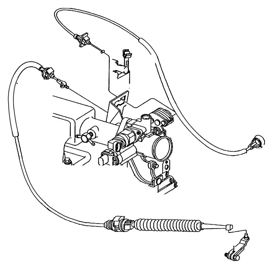 1998 Dodge Caravan Cable. Throttle control. Engine