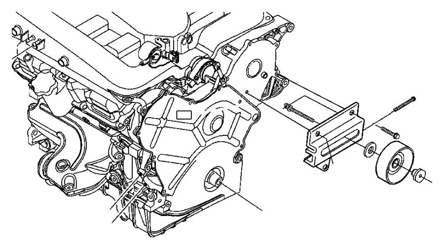 1999 Dodge Grand Caravan Spacer. Idler pulley. Power