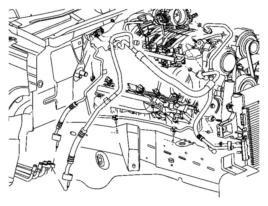 2010 Dodge Journey Valve, valve core. A/c discharge line