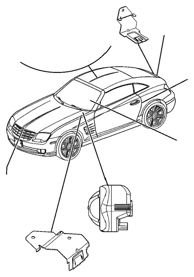 2006 Chrysler Crossfire Wiring. Alarm, module, intrusion
