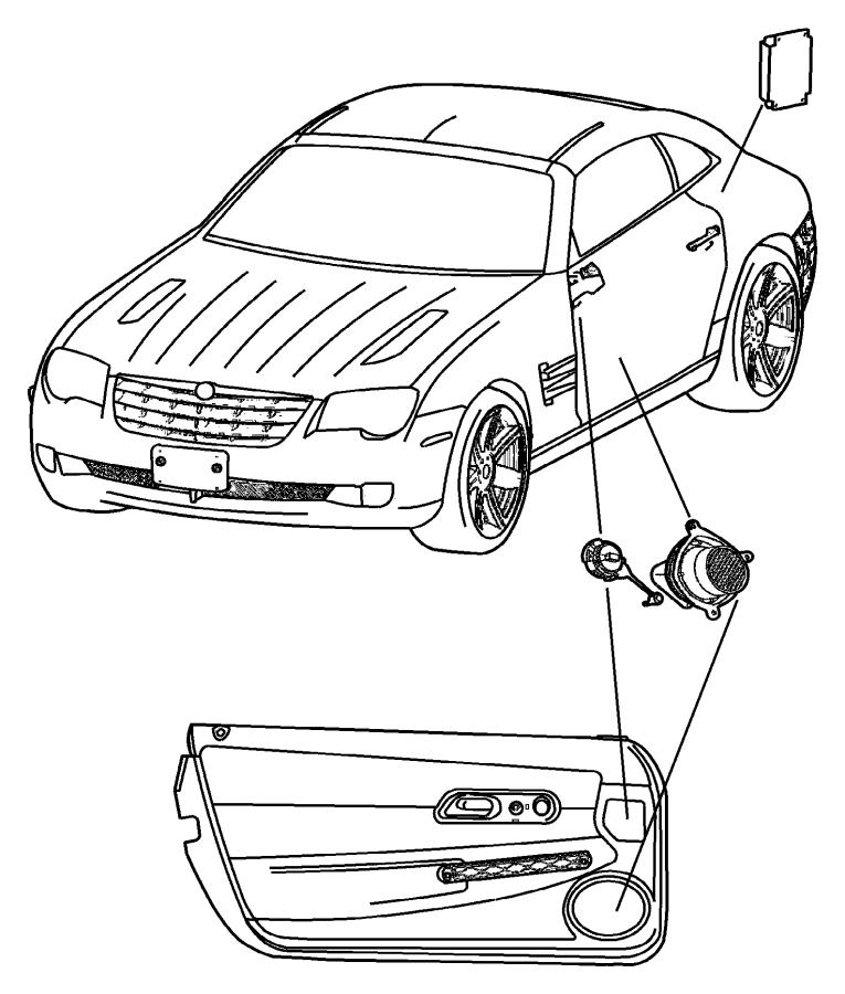 2004 Chrysler Crossfire Stud. Speaker mounting