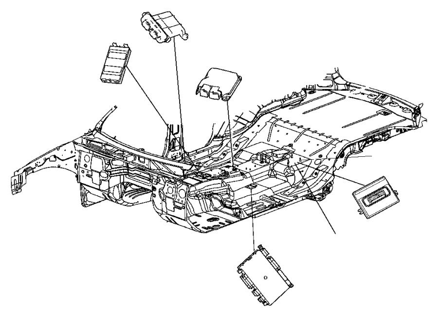 2012 Chrysler 300 Module. Parking assist. [parksense rear