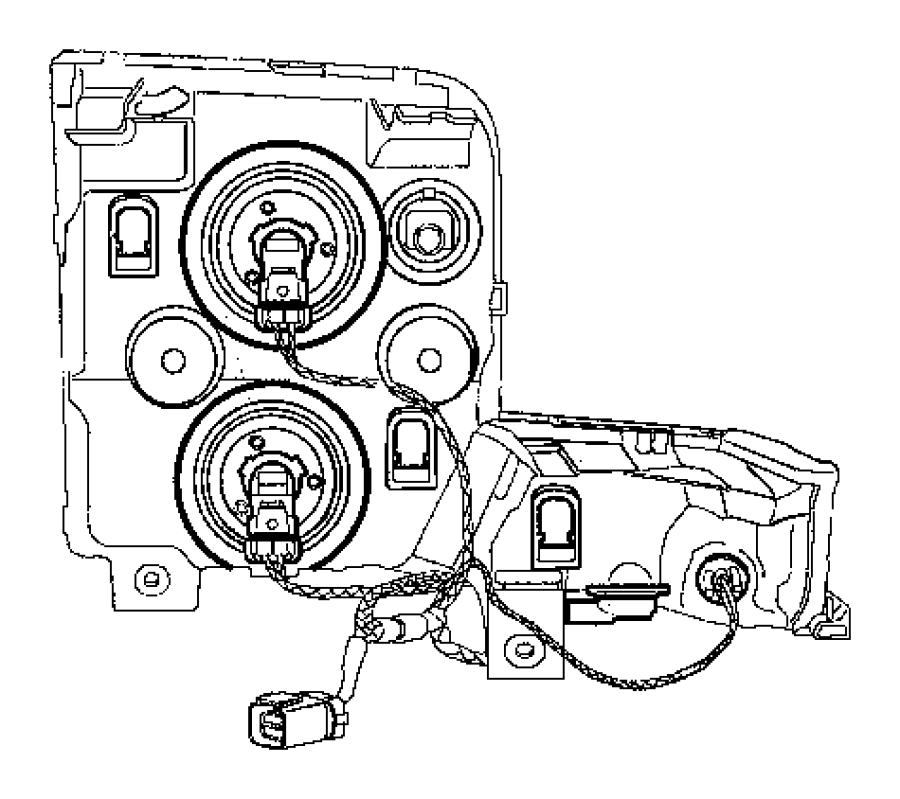 Jeep Commander Wiring. Headlamp. Left, right. Front
