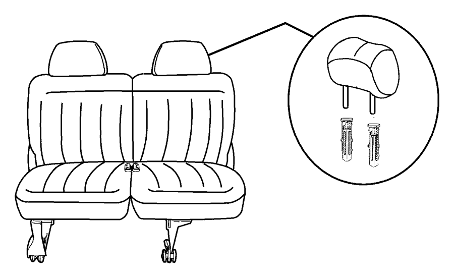 2007 Dodge Caravan Seat complete. Rear. 50/50 bench. [j1
