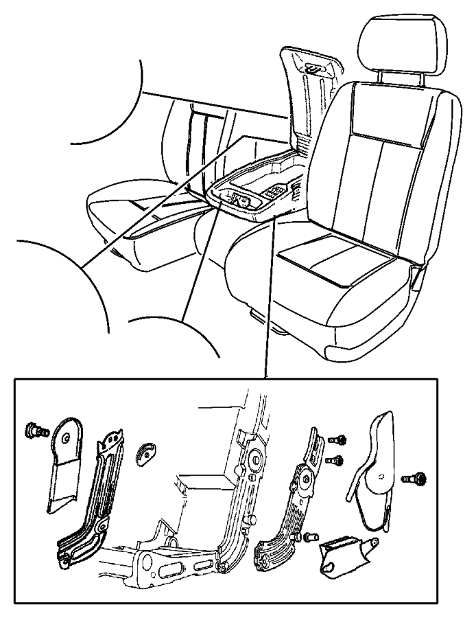 2005 Dodge Dakota Foam. Seat cushion. Driver, left. Trim