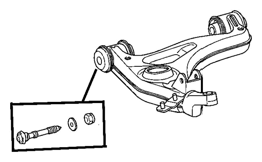 2005 Chrysler Crossfire Bolt kit. Camber adjustment