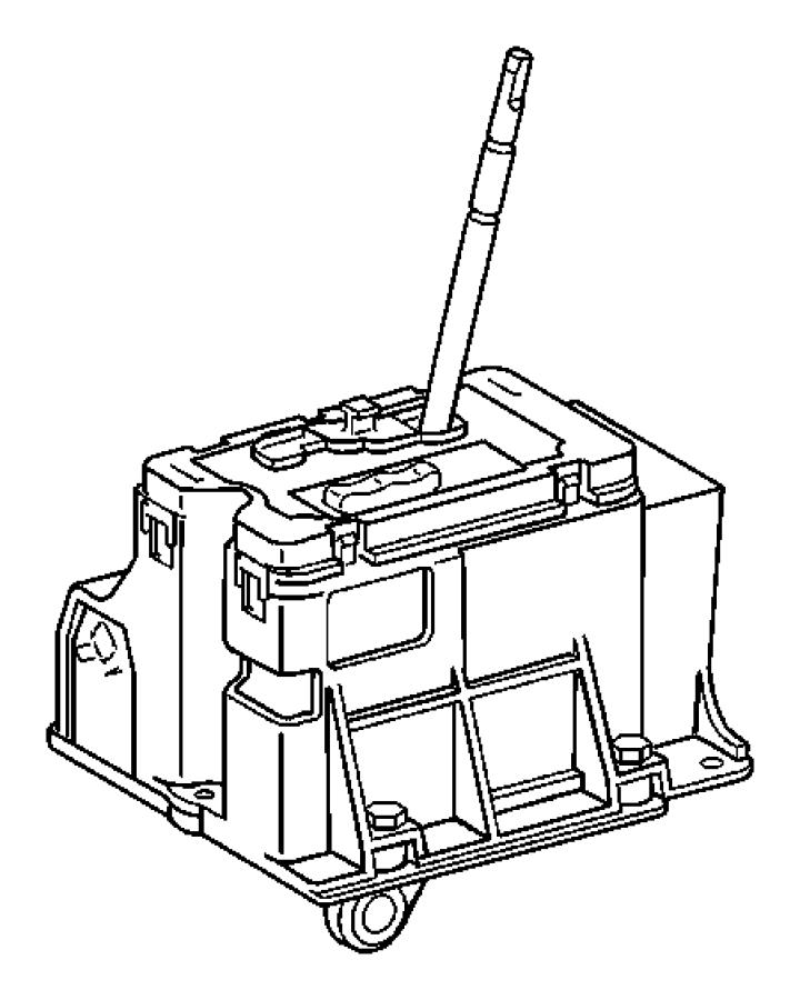 2007 Chrysler Crossfire Lever. Shift shaft. Transmission