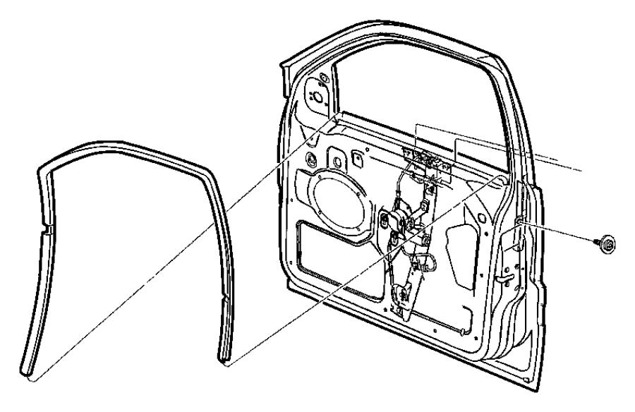 2007 Dodge Grand Caravan Regulator. Front door window