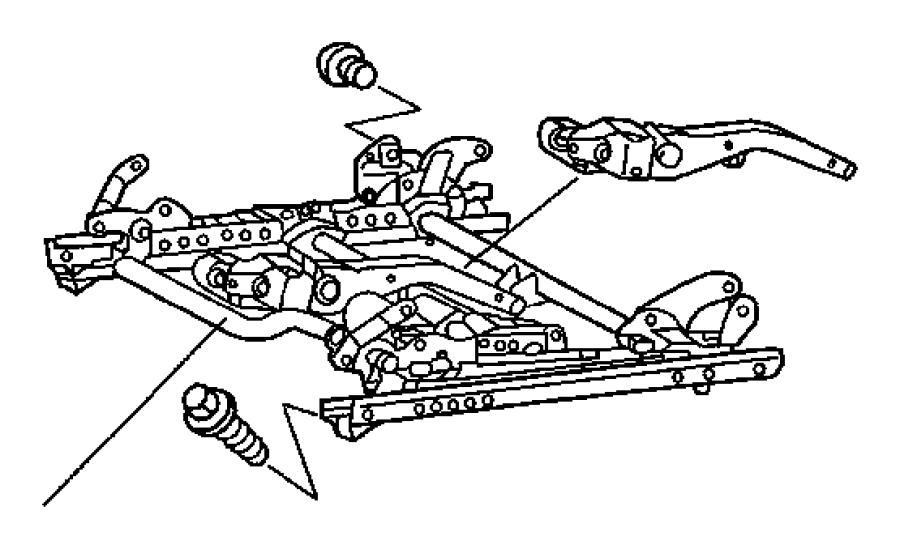 2007 Chrysler Crossfire Screw. Adjusters, seat, shields