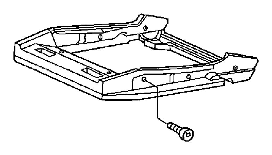 2007 Chrysler Crossfire Frame. Seat cushion. Adjusters