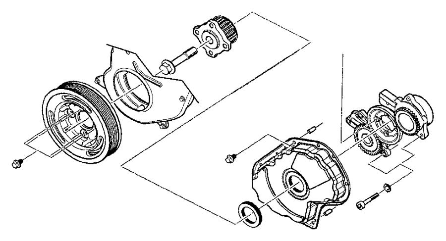 Jeep Grand Cherokee Bolt, screw. Mounting. Rear, upper