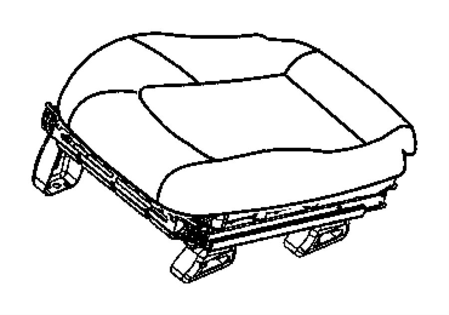 Chrysler Crossfire Cover. Front seat cushion. Left. [dv