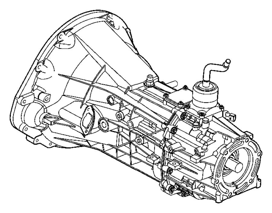 2005 Dodge Ram 1500 Trans. 6 speed. Transmission, transfer