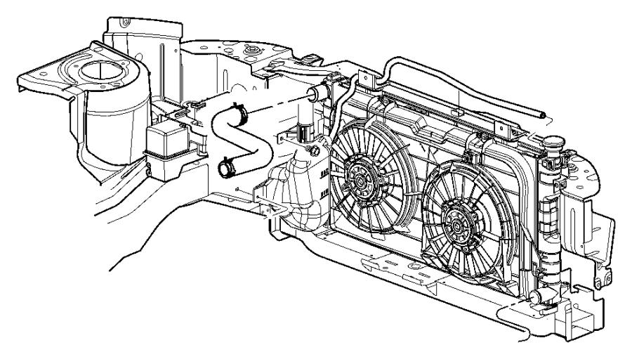 2006 Dodge Grand Caravan Isolator. Crossmember. Radiator