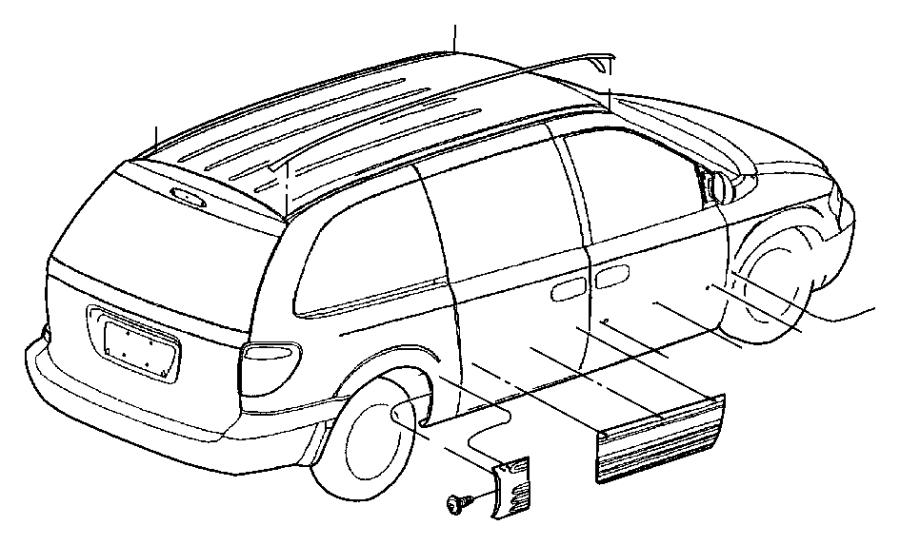 2006 Chrysler Town & Country Applique. Sliding door