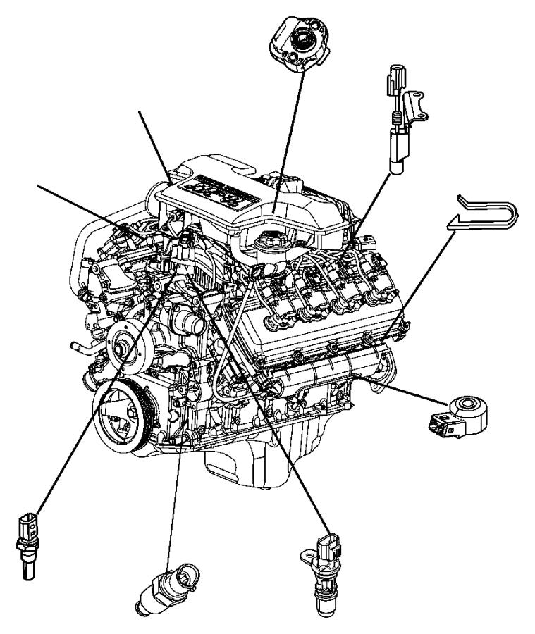 2005 Dodge Ram 1500 Sensor. Crankshaft position. Engine