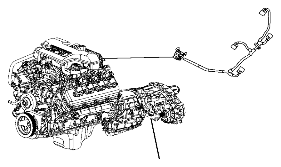 2006 Chrysler 300 Wiring. Jumper. Multiple displacement