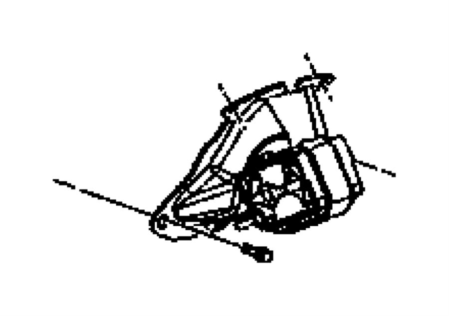 2007 Jeep Liberty Insulator. Engine mount. Mounts