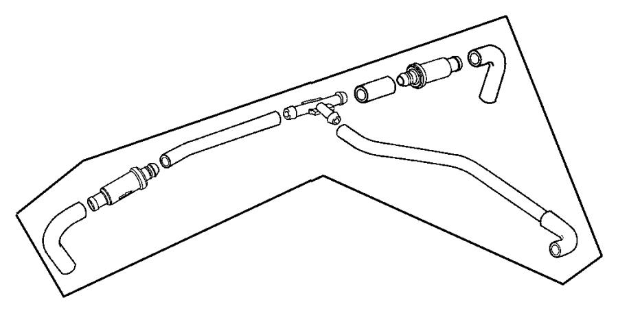 2009 Dodge Durango Tube. Crankcase vent to air cleaner