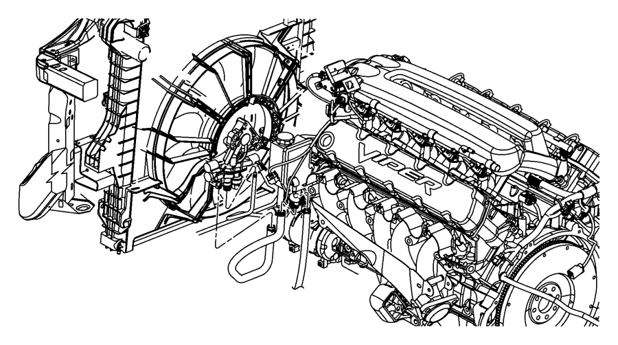 2006 Dodge Ram 1500 Line. Power steering. Hoses, engine