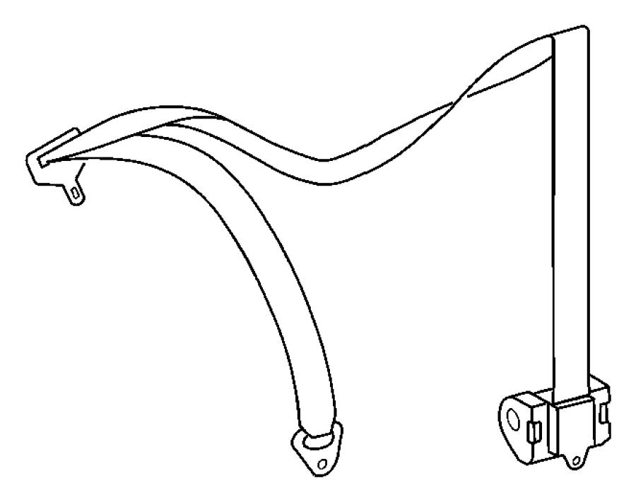 Dodge SPRINTER Seat belt. Retractor. Rear, bench