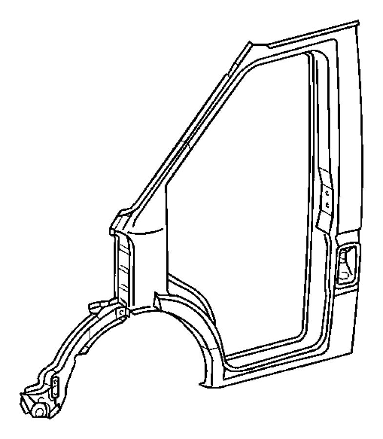 Dodge SPRINTER Aperture. Body side door. Glass, sliding