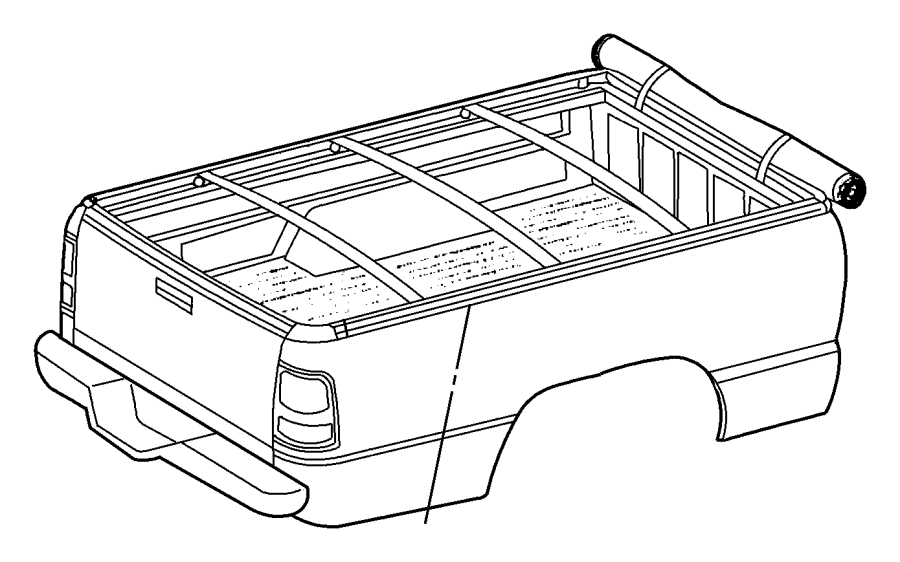 2006 Dodge Ram 2500 Retainer. Tonneau cover hook. Corner