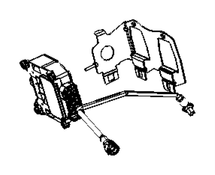 2007 Dodge Caliber Bracket. Vacuum valve. Export. Emission