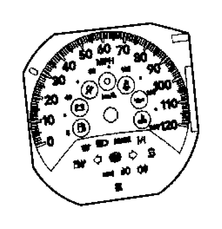 Dodge Caliber Cluster. Instrument panel. [[tachometer, 120