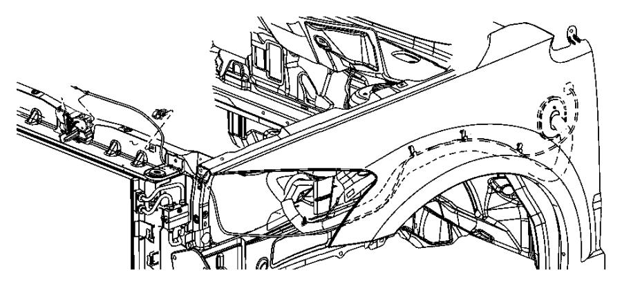 2007 Dodge Caliber Bracket. Cooling module. Hose. Cooling