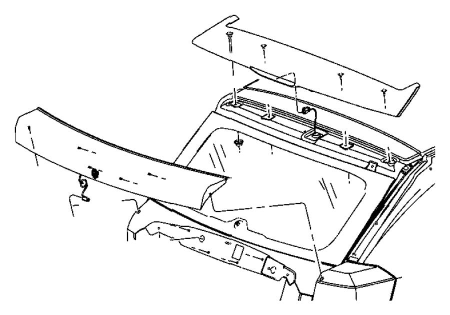 2009 Dodge Caliber Seal kit. Locks, body, liftgate