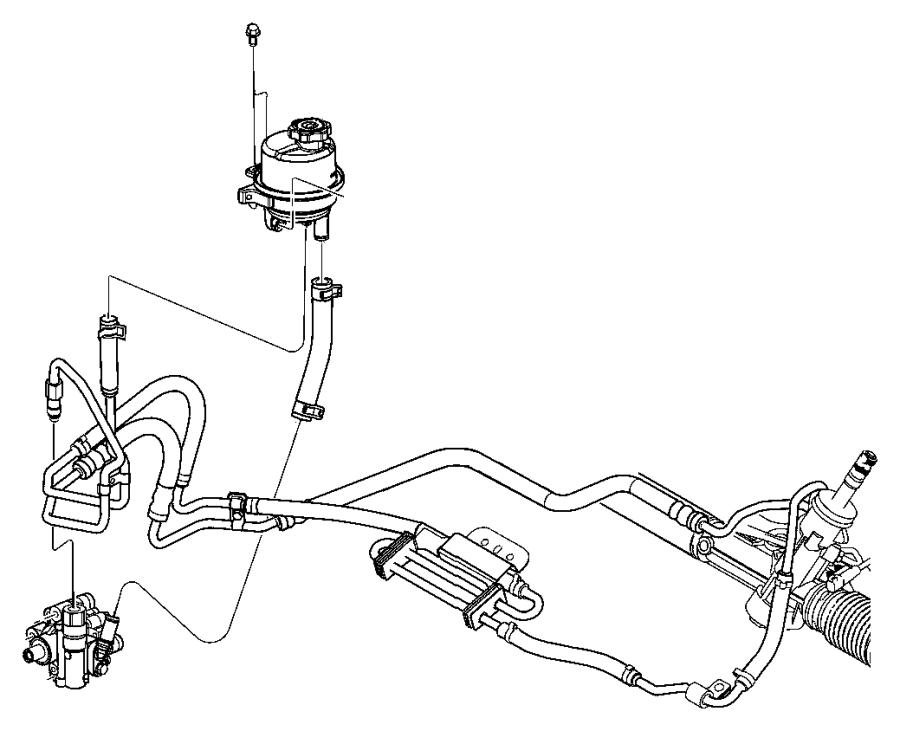 Chrysler Pacifica Reservoir. Power steering pump. After 8