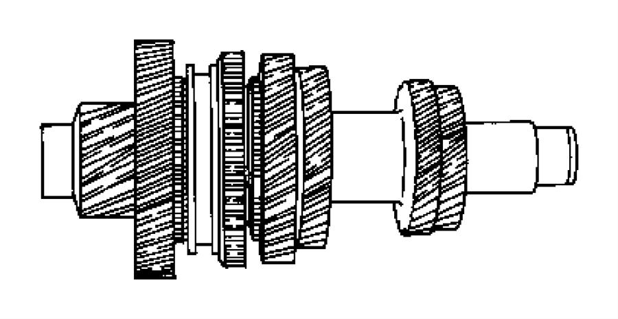 Dodge Caliber Output shaft. Transaxle. Counter