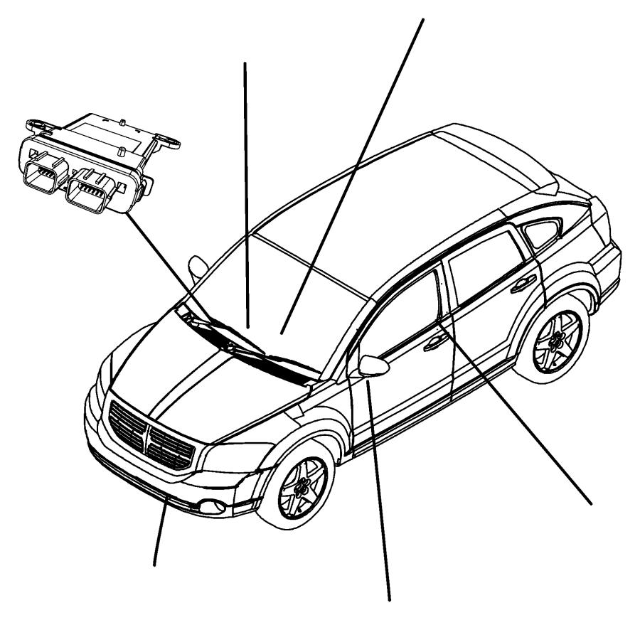 2007 Dodge Caliber Module. Occupant classification. Trim