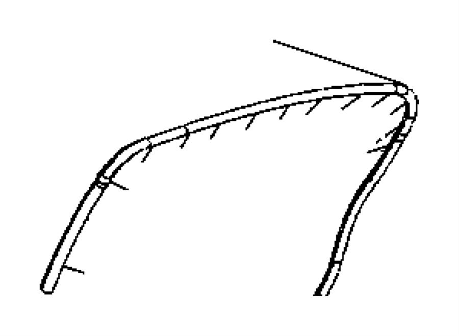 2006 Chrysler 300 Weatherstrip. Rear door mounted. Left