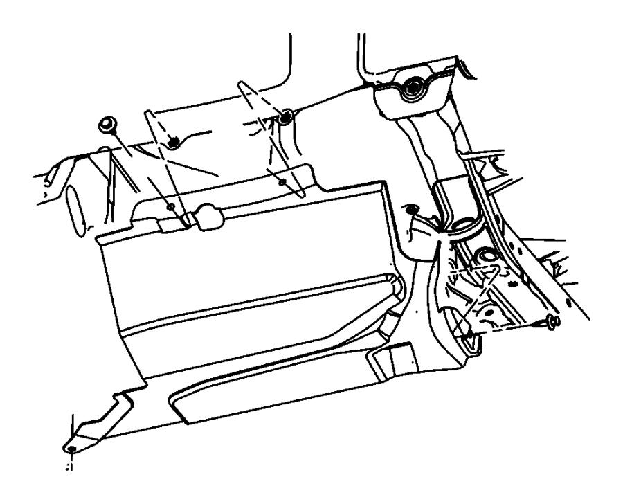 2016 Jeep Patriot Shield. Accessory drive. [trans/engine