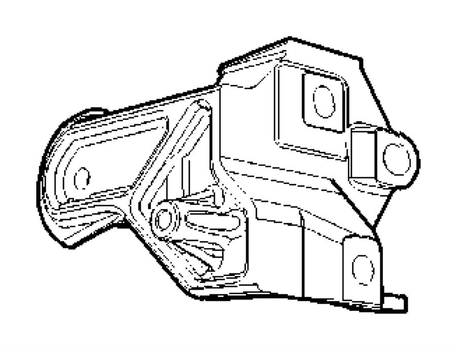 Jeep Compass Bracket. Torque reaction. Rear. Engine mount