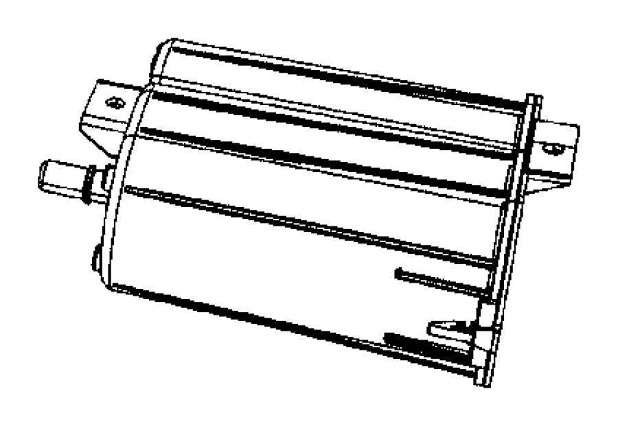 2007 Dodge Caliber Canister. Vapor. Export, emissions