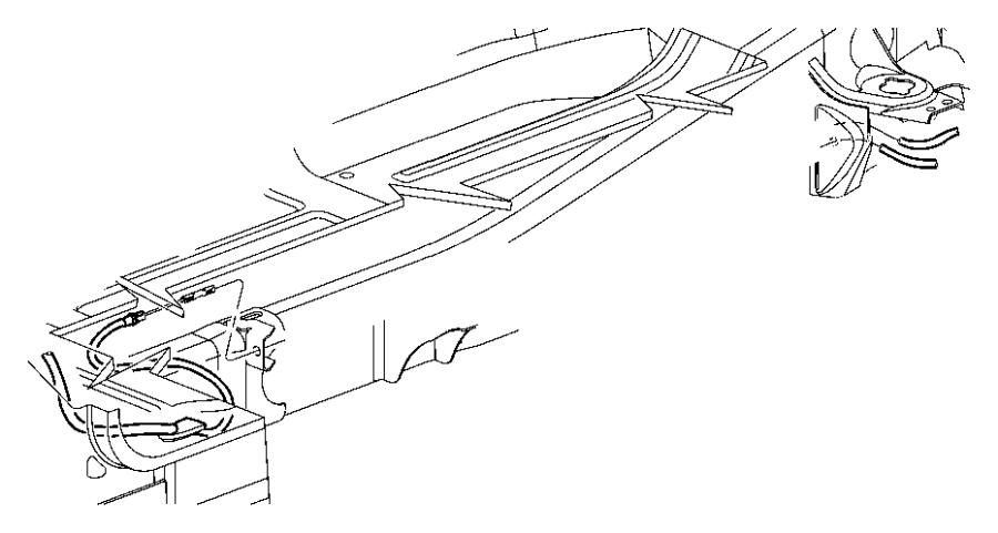 Dodge Dakota Cable. Parking brake extension. Cables, rear