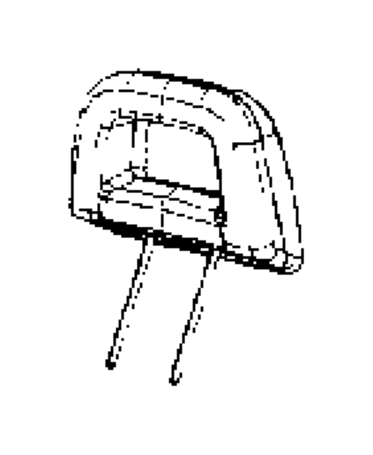 Jeep Compass Headrest. Rear. Outboard, outer. Trim