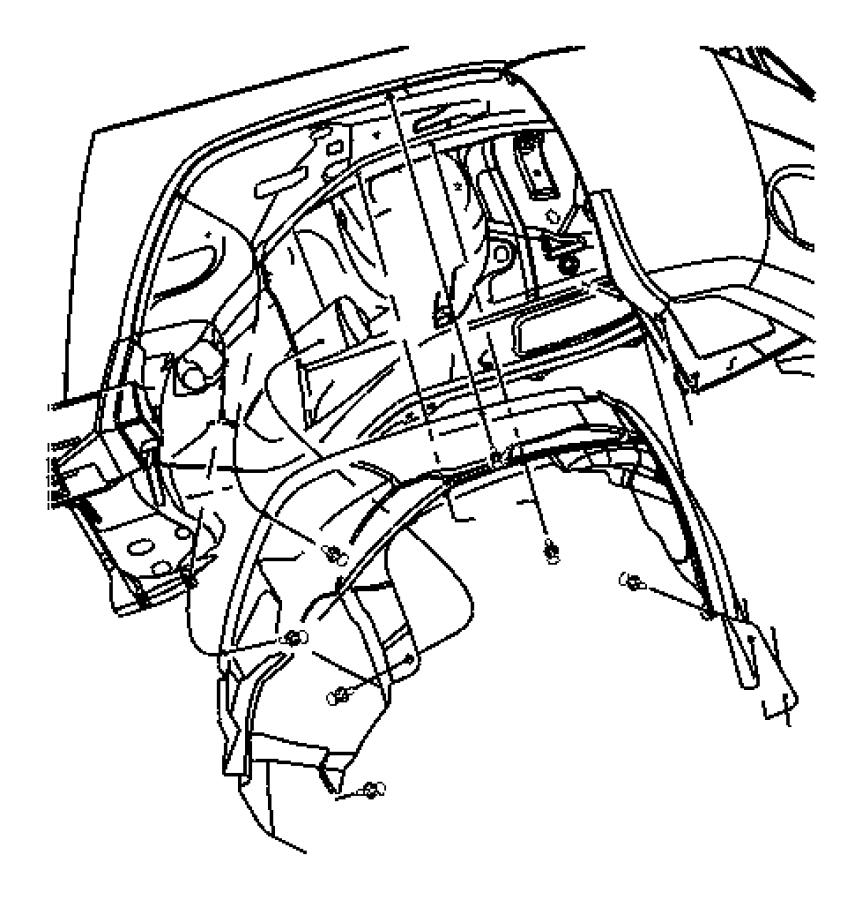 2007 Jeep Compass Shield. Splash. Left. Fender