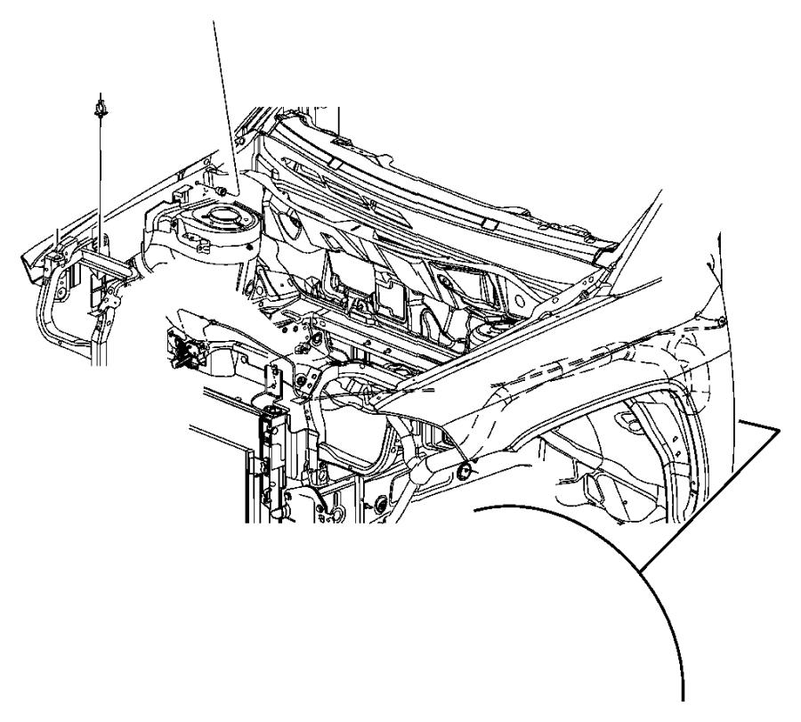 Jeep Compass Bushing. Hood prop rod pivot. Related