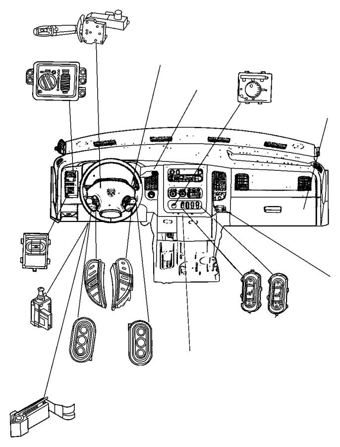 2009 Dodge Ram 4500 Switch. Exhaust brake. Trim: [all trim